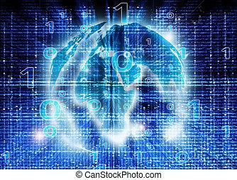 mondiale, résumé, fond, numérique