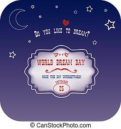 mondiale, rêve, jour