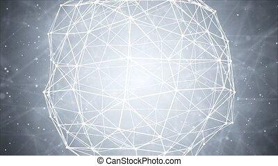 mondiale, sans fil, réseau, communications, technologie, globe, système, carte, loop.
