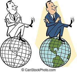 mondiale, sommet, séance