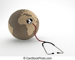 mondiale, stéthoscope