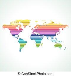 mondiale, stylique numérique, carte