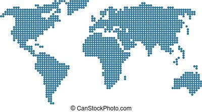 mondiale, stylisé, carte