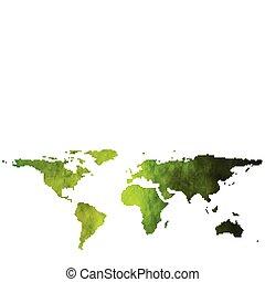 mondiale, textural, carte