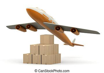mondiale, transporter cargaison