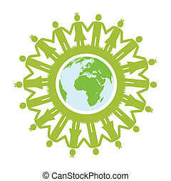 mondiale, vert, enfants