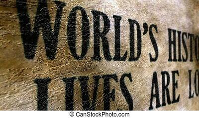 mondiale, vies, perdu, histoire