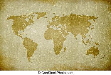 mondiale, vieux, carte