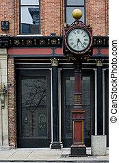mondiale, vieux, horloge