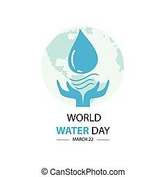 mondo, acqua, day., marzo, 22