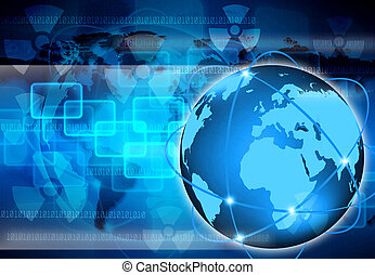 mondo, astratto, tecnologia, affari
