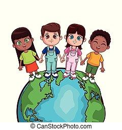 mondo, bambini, risparmio