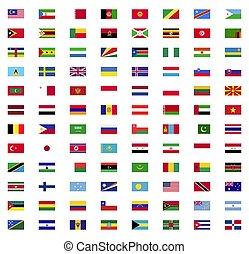 mondo, bandiera, collezione
