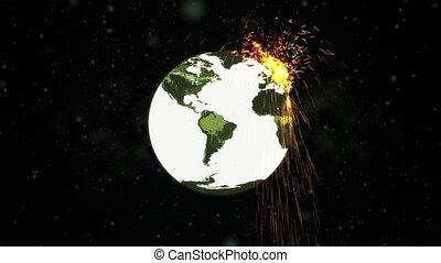 mondo, che esplode, bomba, hd