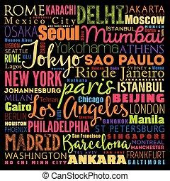 mondo, città, più grande
