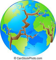 mondo, concetto, crisi