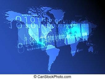 mondo, concetto, fondo, digitale