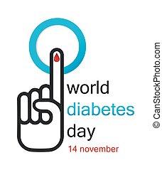 mondo, concetto, giorno, diabete