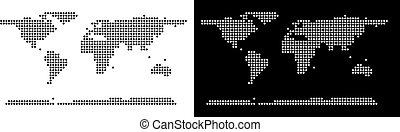 mondo, continente, puntino, mappa