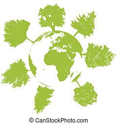 mondo, ecologia, albero