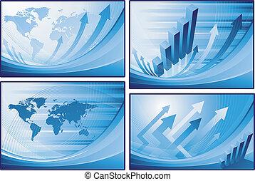 mondo, finanziario, fondo, mappa