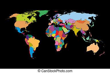 mondo, fondo, mappa