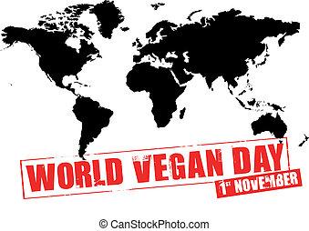 mondo, giorno, vegan