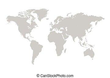 mondo, grigio, illustrazione, mappa