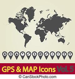 mondo, icon., mappa