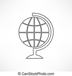 mondo, illustrazione, mappa