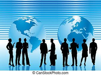 mondo, intorno, affari