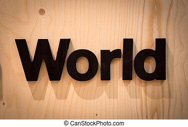 mondo, legno, tipo