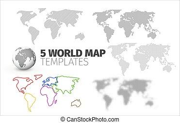 mondo, mascherine, rapporti, 5, mappa, infographics, tuo