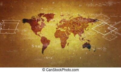 mondo, mathematics., uno, mondo, pieno, di, matematica,...