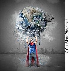 mondo, poco, risparmia, superhero
