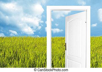 mondo, porta, nuovo