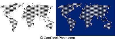 mondo, puntino, mappa