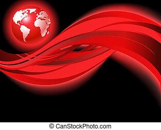 mondo, rosso, affari, mappa