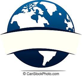 mondo, sagoma, logotipo