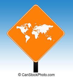 mondo, segno strada