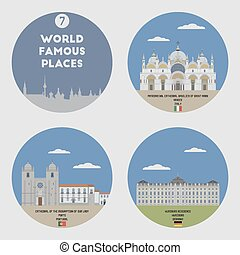 mondo,  set, famoso,  7, locali