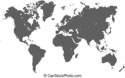 mondo, silhouette, mappa