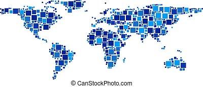 mondo, squadre, composizione, mappa