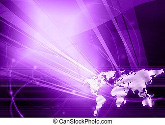 mondo, stile, tecnologia, mappa