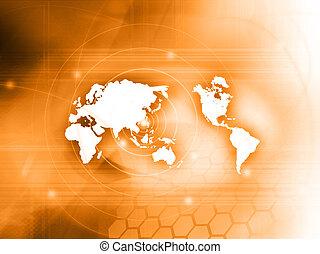 mondo, technology-style, mappa