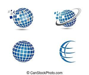 mondo, templat, logotipo