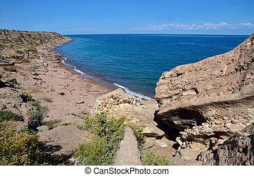 mondo, tian, esso, lago, kyrgyzstan, shan, decimo, orientale, più grande, riva, localizzato, volume, settentrionale, issyk-kul, settimo, deepest, montagne