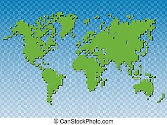 mondo, vettore, creativo, illustrazione, mappa
