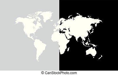 mondo, vettore, illustrazione, mappa