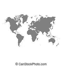 mondo, vettore, mappa
